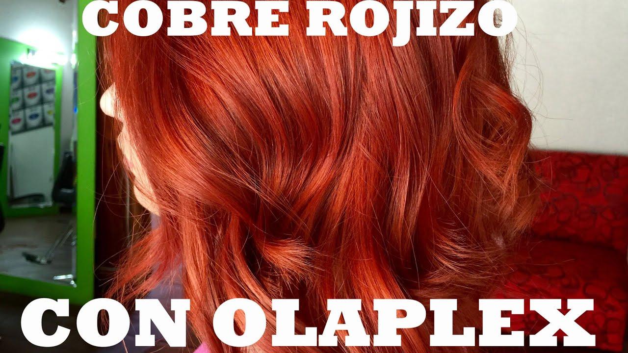 Cabello color cobre rojizo