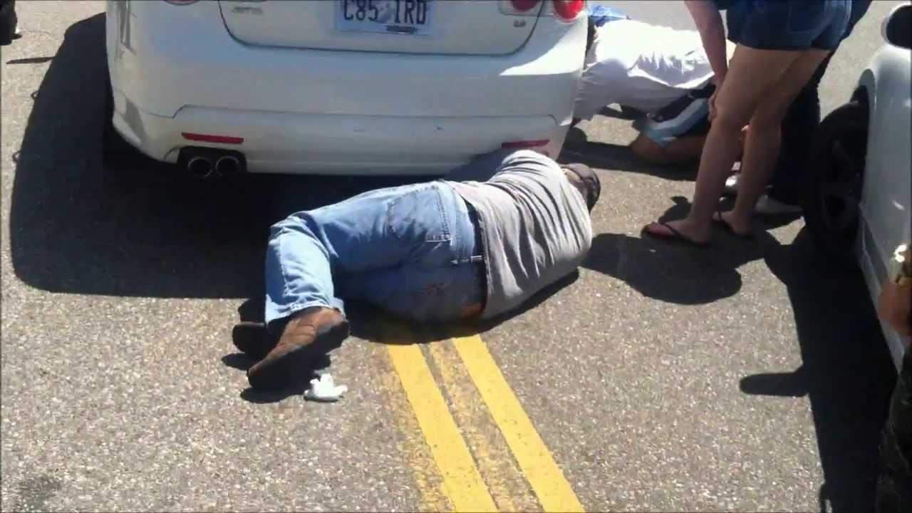 Girl Getting Hit My Car