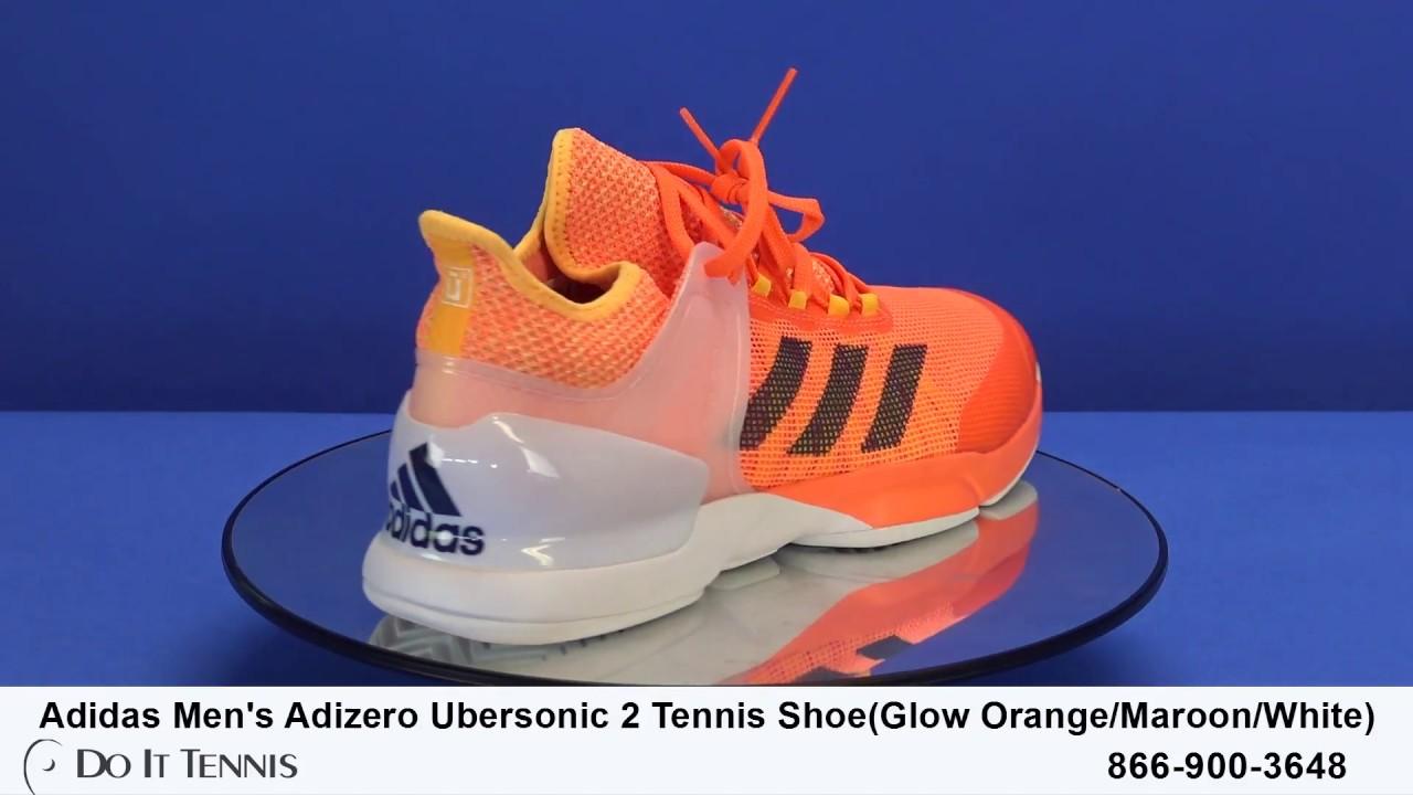Potencial Discurso flauta  Adidas Men's Adizero Ubersonic 2 Tennis Shoes - YouTube