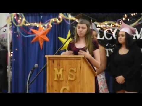 Donna's graduation speech at Shabazz City High School