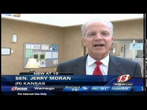 WIBW 13 News: Sen. Jerry Moran Visits Wamego Health Center