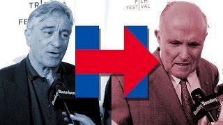 Robert De Niro, Rudy Giuliani & SNL Cast Critique Hillary Clinton's New Logo