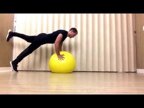 Easy progressive Physioball moves for the rear chain, back, abs, and spiraling muscles.