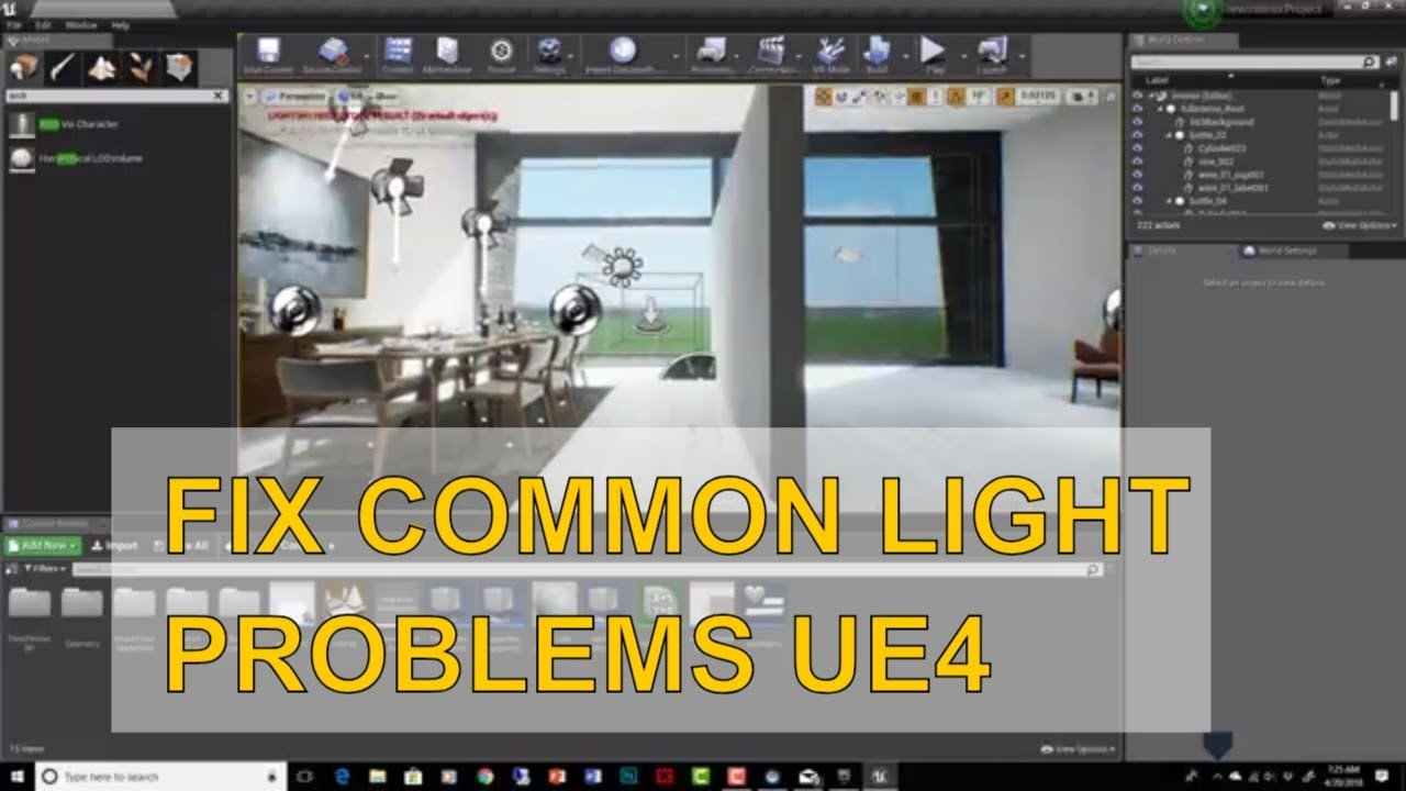 Fixing Common Lightmass Errors UE4 Arch Viz - Overlapping UVs