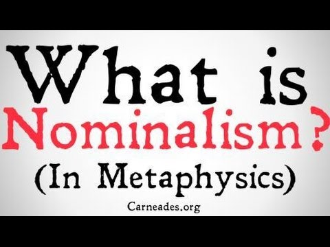 What is Nominalism? (Universals and Abstracts)