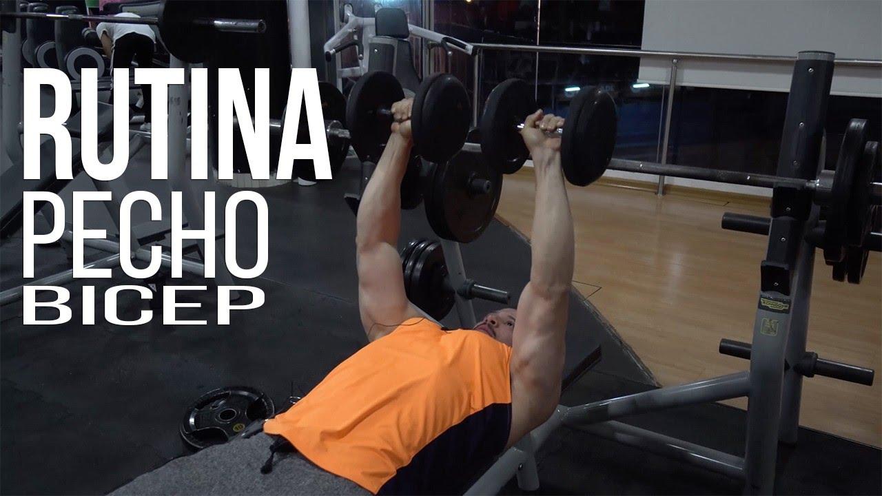 tabla de pecho y biceps