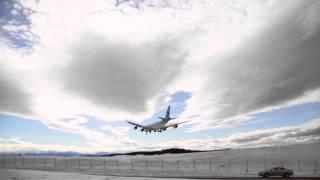 Korean Air Cargo Boeing 747 landing Anchorage Airport, Alaska, watch HD and Full Screen