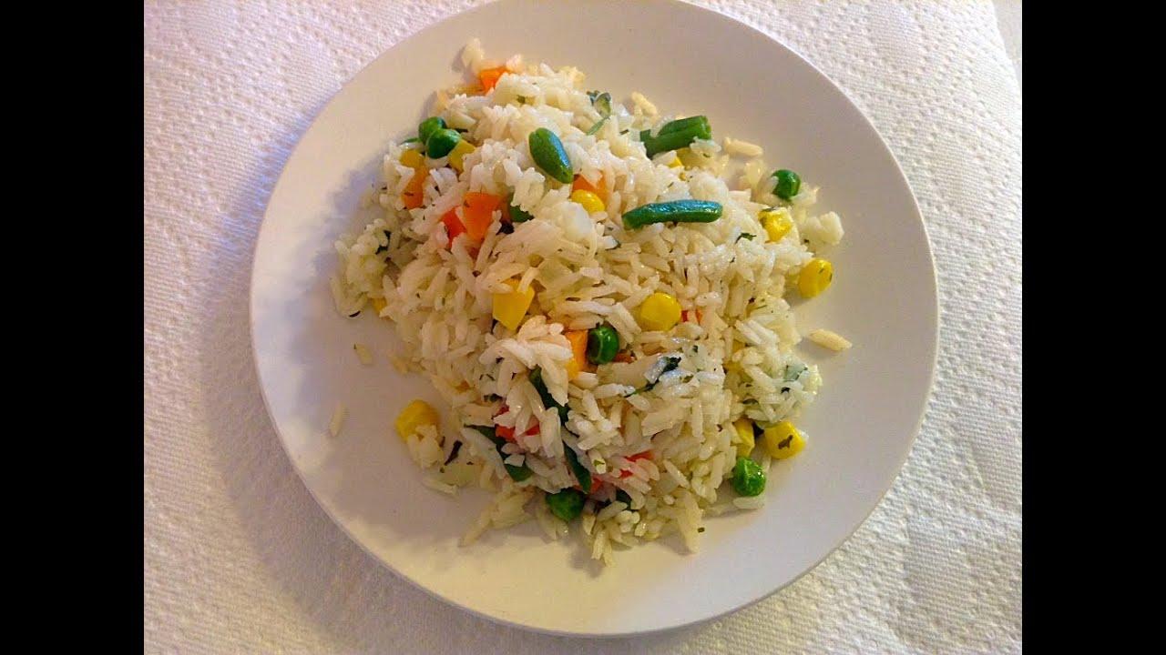 Arroz blanco con vegetales youtube - Comidas con arroz blanco ...