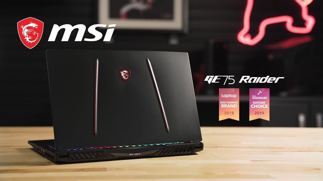 GE75 RAIDER Unboxing – Now Powered by 9th Gen Intel Core Processors   MSI