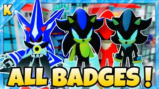 HOW TO GET ALL 10 BADGES in Sonic Universe RP   Roblox