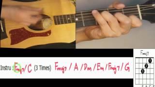 สอน สิ่งของ klear ตีคอร์ด+intro ง่าย ไม่มีคอร์ดทาบ สำหรับมือใหม่ เล่นตามเพลง KeyC - น้าจร เชียงใหม่