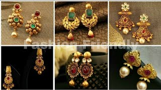Latest Gold Earrings Designs  / Gold Earrings - Fashion Friendly