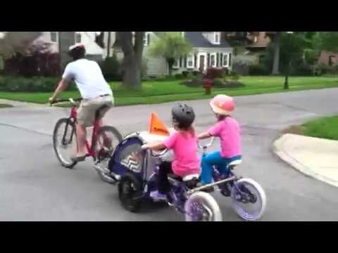 The Tandem Trailer Tag Along Bike Youtube