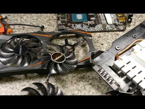 Вентиляторы на Gigabyte  GTX 1060
