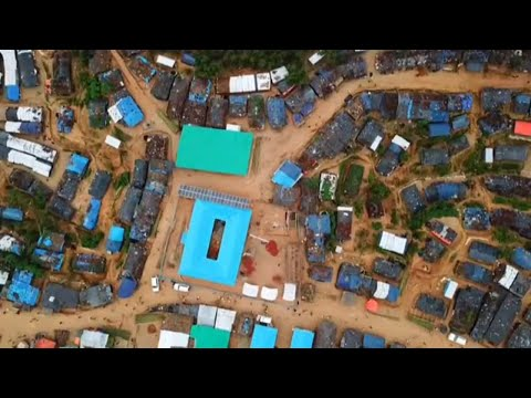 Drone Video of Rohingya Camps in Cox's Bazar, Bangladesh