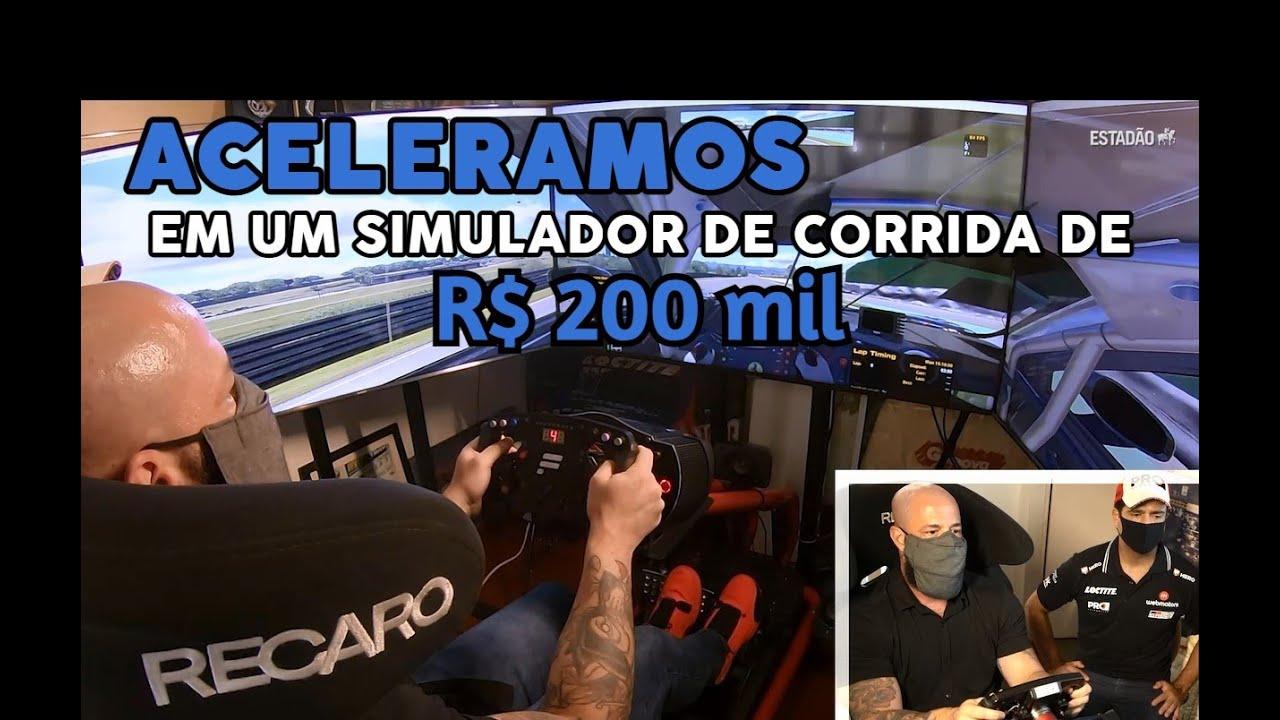 Aceleramos no simulador de corrida de R$ 200 mil do piloto Nonô Figueiredo