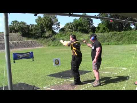 Brian Mclendon shooting steel challange nationals.
