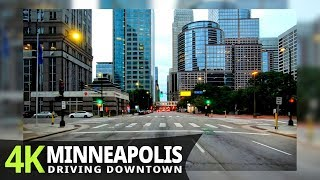 Minneapolis 4K60fps - Evening drive - Minnesota, USA