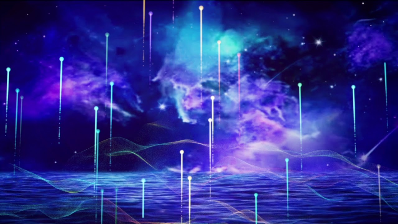 Beautiful, Blue, Dreamy, Night Sky, Shooting Stars, Light