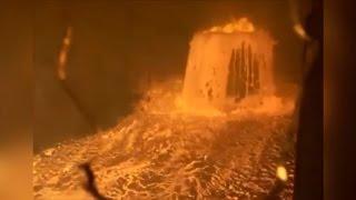 Взрыв печи во время плавки металла