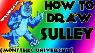 """How To Draw James P. """"Sulley"""" Sullivan from Monsters University ✎ YouCanDrawIt ツ 1080p HD"""