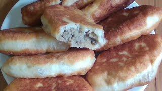 Два вида теста и два вида начинки Пирожки не сладкие жареные