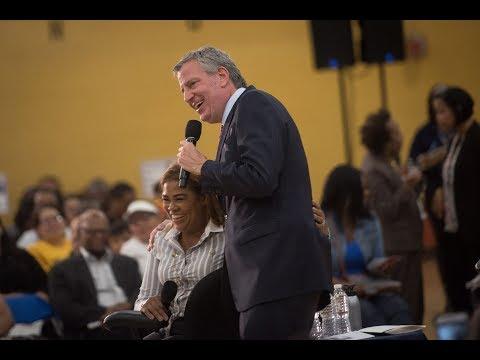 Mayor de Blasio Hosts Town Hall in The Bronx