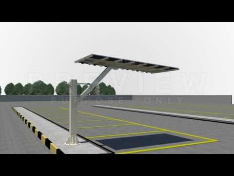 Solar Car Parking - Installation