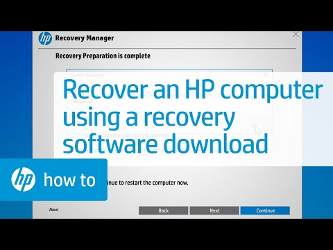 How To Recover an HP Computer Using a Download of the Recovery
