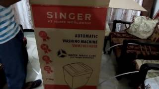 Singer Automatic Washing Machine part 2 of 2 - Unboxing