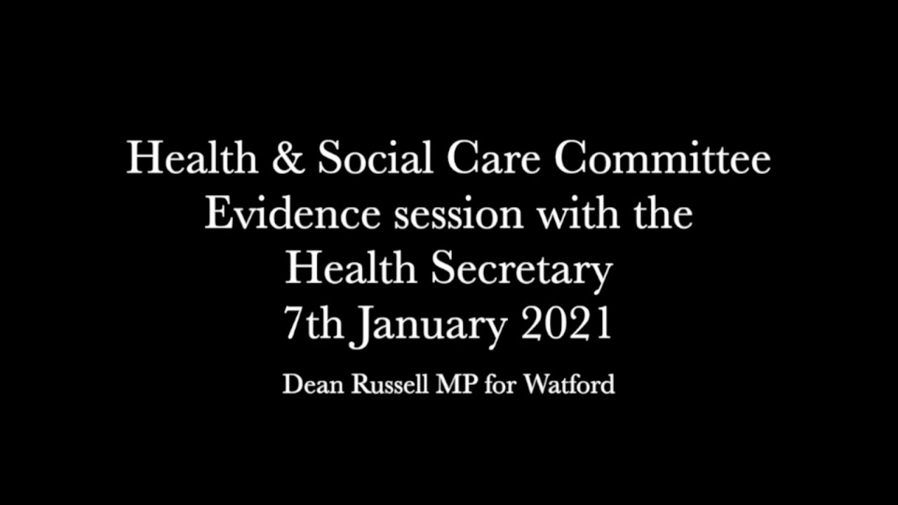 Health & Social Care Select Committee: Dean asks Health Secretary about support for mental health