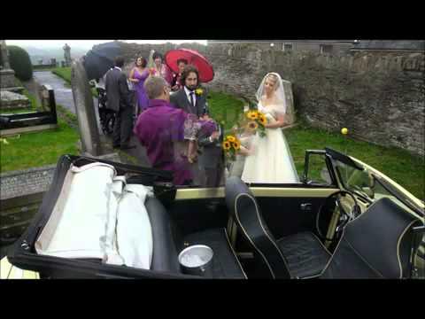 Vintage VW Weddings Karen Stephen in Le Bug Milly the camper van LoveDub Wedding car hire YouTube