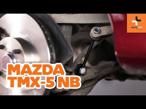 How to replace front anti roll bar link on MAZDA MX-5 TUTORIAL | AUTODOC