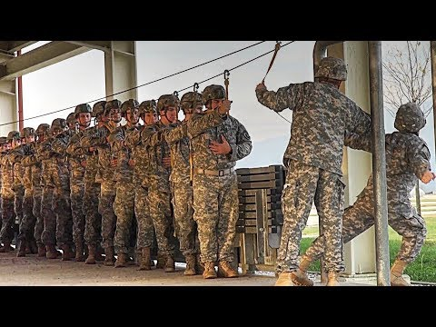 Army Paratroopers Jump Training