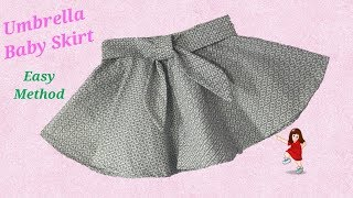 How to make Designer Umbrella cut Skirt for Baby Girl // Baby skirt // by simple cutting