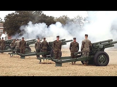 President's Day 21-GUN SALUTE! (W.P.T. Field on Marine Corps Base Camp Lejeune, Feb. 19, 2018!)