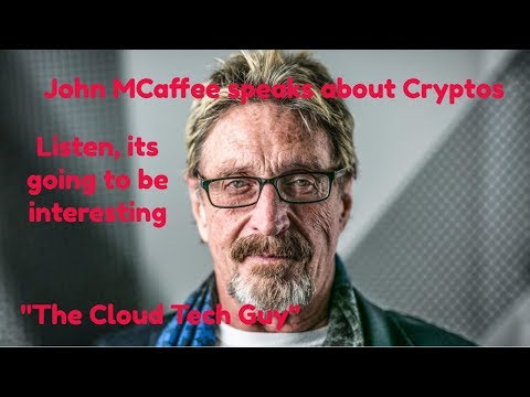 John Mcafee Speech @ the Bitcoin, Ethereum, Blockchain conference on Bitcoin Cryptos cryptos btc