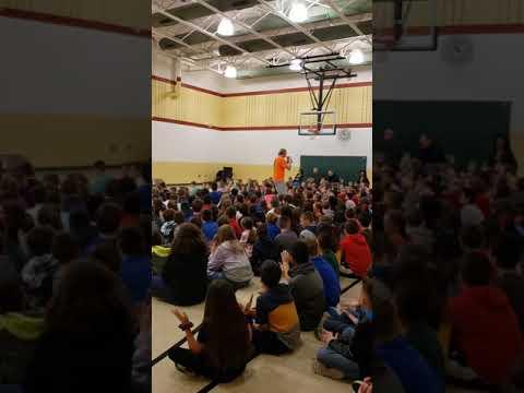 Mr. Peace Raps about Diversity at Lindemann Elementary School in Allen Park, Michigan