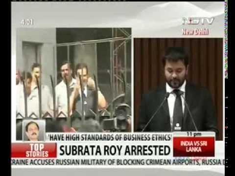 Sahara Group's chief Subrata Roy arrested