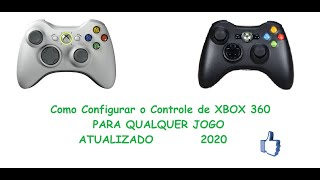 como configurar o controle do xbox 360 no pc