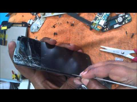 HTC Butterfly Display Touch Removing