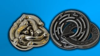 Awesome Hanayama Puzzles Vortex & Labyrinth
