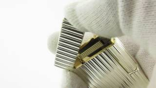 Two Tone Gold and Silver S. T. Dupont Ligne Gatsby Lighter Ping Sound Test And Presentation