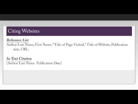 How to Cite Using Chicago Style (16th ed.): Websites