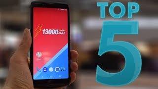 TOP 5 BEST Big Battery Smartphones 2018