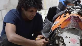 مصلح دراجات  _ الاستاذ والخبيث  _الدراجه اشتعلت نار  | مصطفى ستار