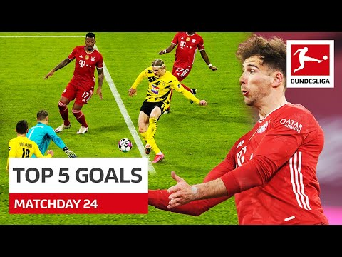 Top 5 Goals • Haaland, Forsberg \u0026 More | Matchday 24 - 2020/21