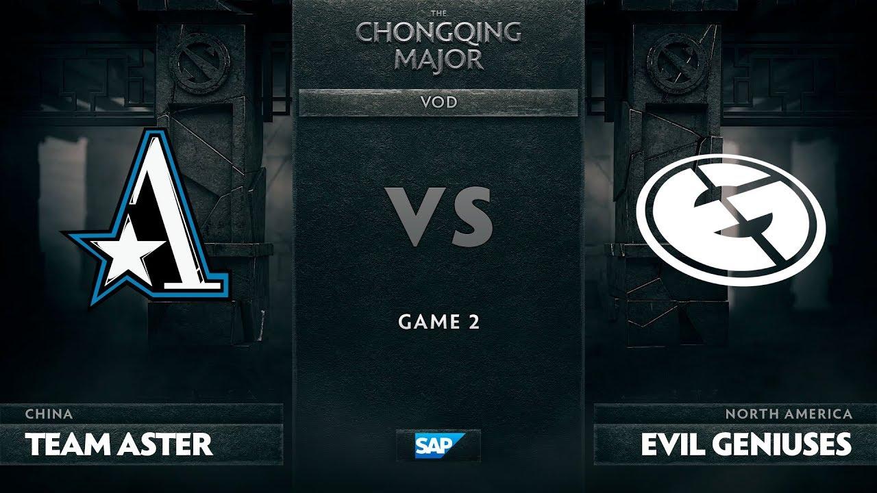 [EN] Team Aster vs Evil Geniuses, Game 2, The Chongqing Major Group D