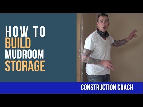 How to Build Mudroom Storage - DIY