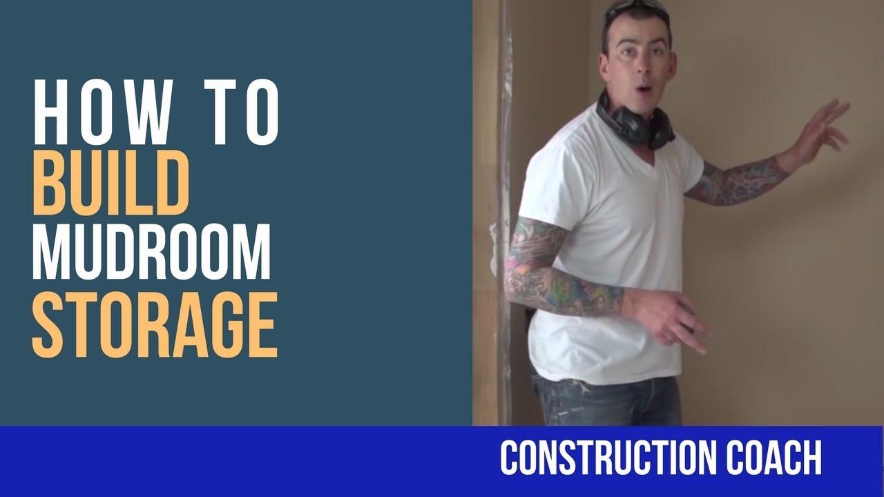 how to build mudroom storage